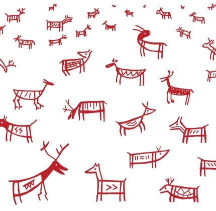 Deer card etsy